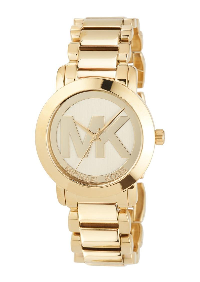 MICHAEL Michael Kors 38mm Logo Bracelet Watch  Golden