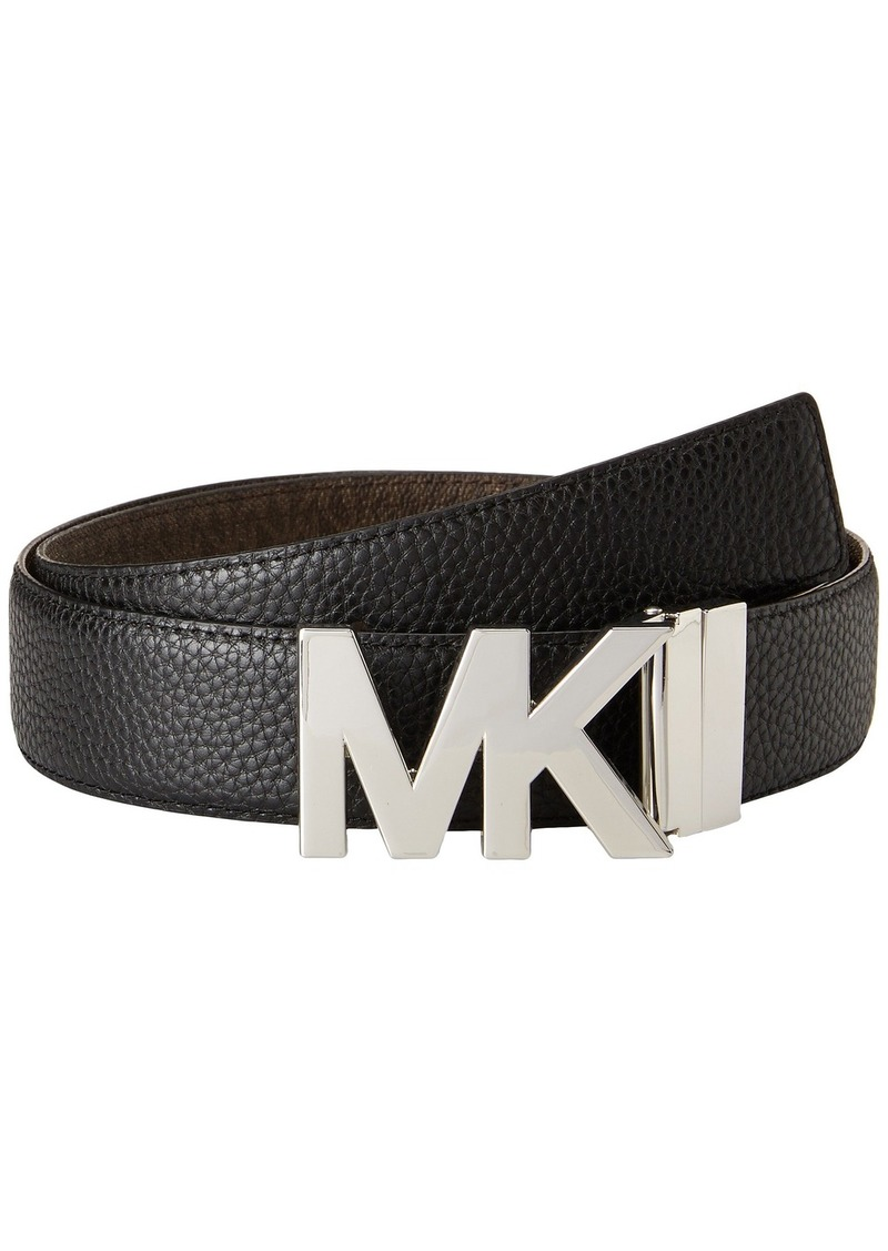 MICHAEL Michael Kors 38mm Reversible Pebble to Logo Belt on MK Plaque Buckle