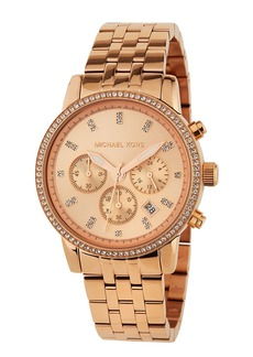 MICHAEL Michael Kors 38mm Ritz Chronograph Bracelet Watch  Rose Golden