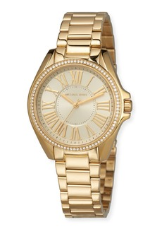 MICHAEL Michael Kors 39mm Kacie Crystal Watch with Bracelet  Gold