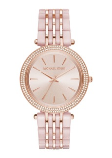 MICHAEL Michael Kors 39mm Ladies' Rose-Tone Glitz Bracelet Watch
