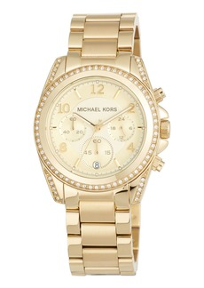 MICHAEL Michael Kors 39mm Mini Blair Glitz Chronograph Bracelet Watch  Gold