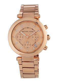 MICHAEL Michael Kors 39mm Parker Chronograph Bracelet Watch  Rose Gold