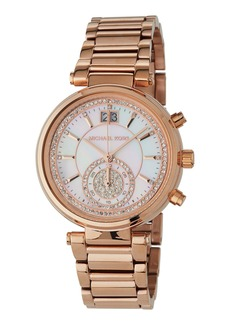 MICHAEL Michael Kors 39mm Sawyer Glitz Chronograph Watch