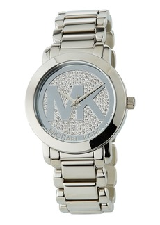 MICHAEL Michael Kors 40mm Crystal Pave Logo Bracelet Watch
