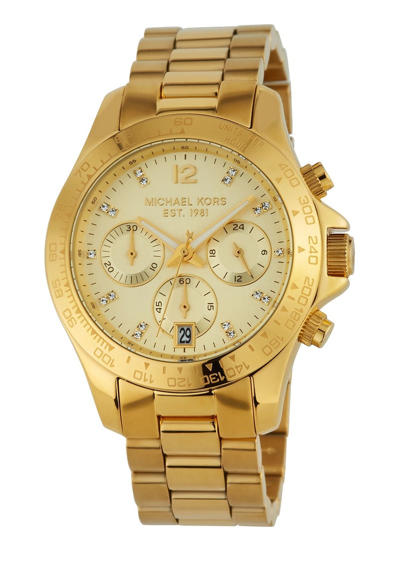 MICHAEL Michael Kors 40mm Layton Chronograph Watch  Golden
