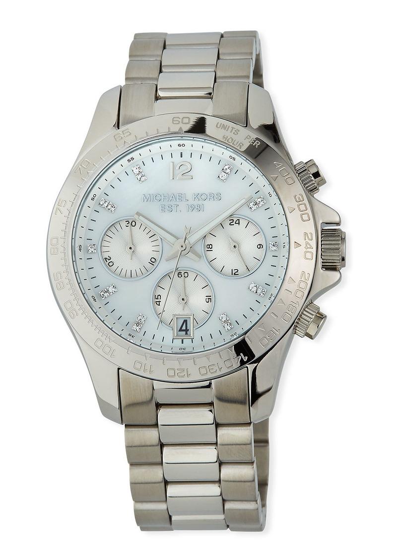 MICHAEL Michael Kors 40mm Layton Chronograph Watch  Silver
