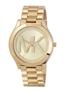 MICHAEL Michael Kors 40mm Slim Runway Bracelet Watch  Yellow Golden