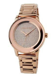 MICHAEL Michael Kors 41.5mm Kinley Crystal Pave Bracelet Watch  Rose Golden