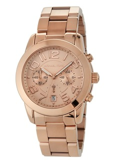 MICHAEL Michael Kors 41.5mm Mercer Chronograph Bracelet Watch  Rose Golden