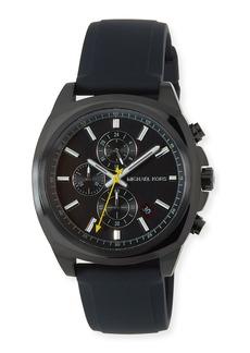 MICHAEL Michael Kors 42mm Bryson Chronograph Watch w/ Silicone Strap  Black