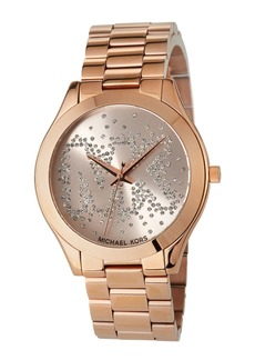 MICHAEL Michael Kors 42mm Crystal Bracelet Watch  Rose Golden