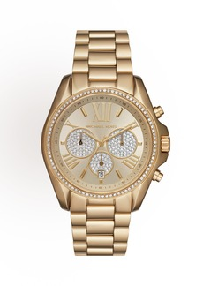 MICHAEL Michael Kors 43mm Bradshaw Chronograph Bracelet Watch  Golden