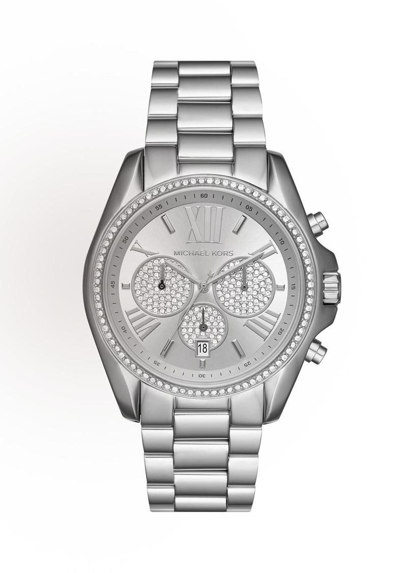 Michael Kors 43mm Bradshaw Chronograph Bracelet Watch Silvertone