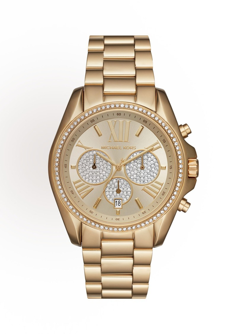 MICHAEL Michael Kors 43mm Bradshaw Chronograph Bracelet Watch  Golden