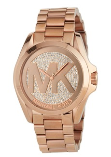 MICHAEL Michael Kors 43mm Bradshaw Logo Bracelet Watch  Rose Gold