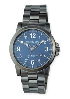 MICHAEL Michael Kors 43mm Paxton Bracelet Watch  Gray/Blue