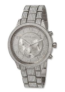 MICHAEL Michael Kors 43mm Runway Glitz Watch with Bracelet  Silver