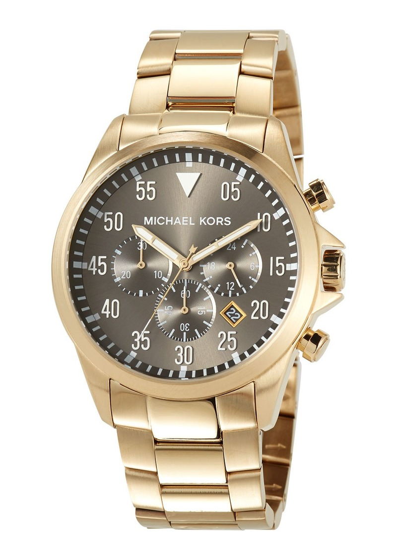 MICHAEL Michael Kors 45mm Gage Men's Chronograph Watch  Gold