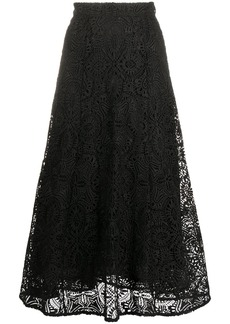 MICHAEL Michael Kors A-line embroidered flared midi skirt