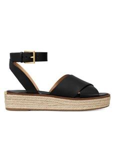 MICHAEL Michael Kors Abbott Leather Jute Platform Ankle Strap Sandals