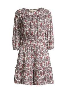 MICHAEL Michael Kors Abstract Scroll Smocked Dress