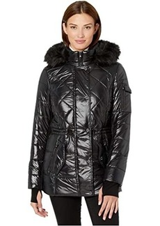 MICHAEL Michael Kors Active Polyfill with Faux Fur Trim Hood A420784TZ