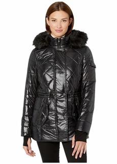 MICHAEL Michael Kors Active Polyfill with Faux Fur Trim Hood A420784TZ