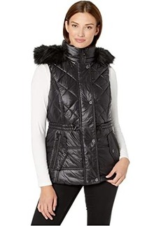 MICHAEL Michael Kors Active Vest with Faux Fur Trim Hood A421030TZ