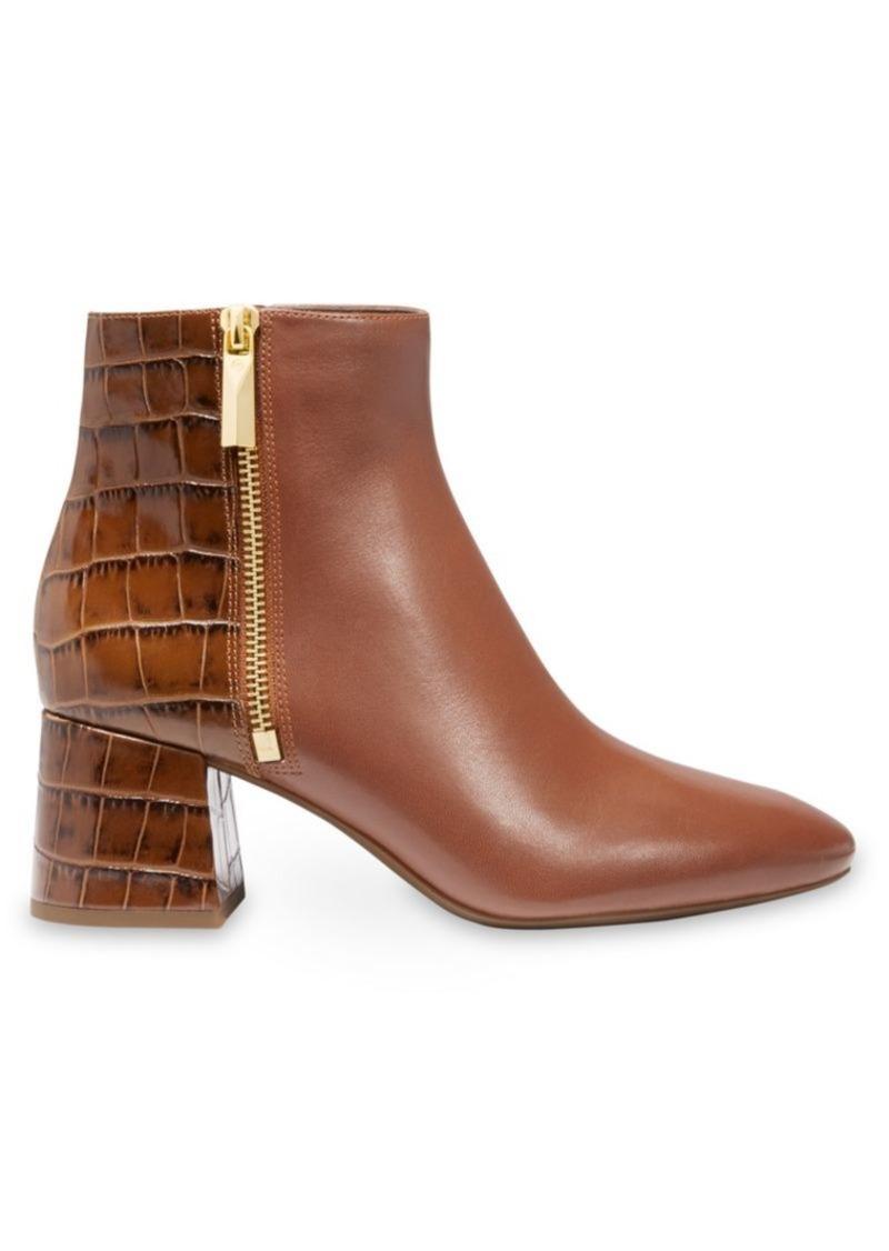 MICHAEL Michael Kors Alane Flex Croc-Embossed Leather Ankle Boots
