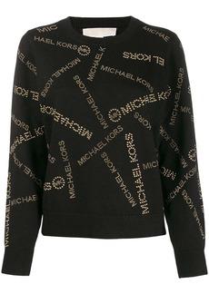 MICHAEL Michael Kors all-over logo print sweater