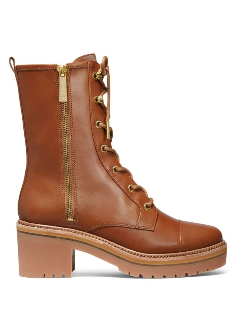 MICHAEL Michael Kors Anaka Leather Combat Boots