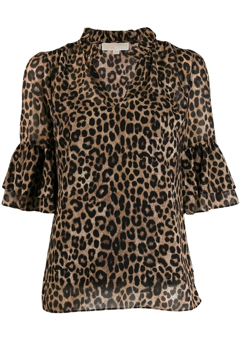 MICHAEL Michael Kors animal print blouse