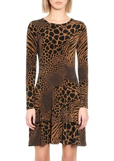 MICHAEL Michael Kors Animal-Print Patchwork Dress