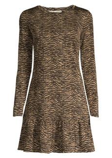 MICHAEL Michael Kors Animal-Print Ruffle Hem Dress