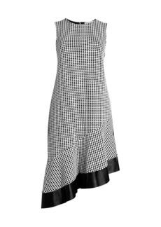 MICHAEL Michael Kors Asymmetric Houndstooth Dress