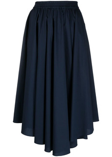 MICHAEL Michael Kors asymmetric pleated midi skirt