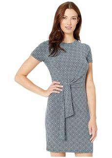 MICHAEL Michael Kors Aziza Short Sleeve Tie Twist Dress