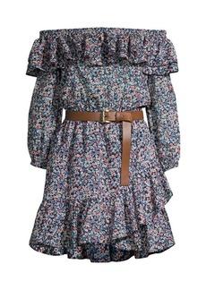 MICHAEL Michael Kors Bare Shoulder Belted Dress