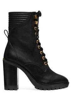 MICHAEL Michael Kors Bastian Leather Combat Boots