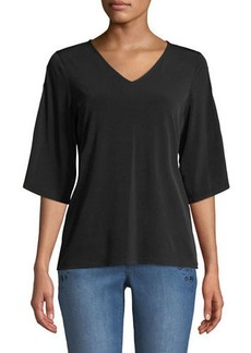 MICHAEL Michael Kors Beaded-Ladder Flare-Sleeve Tee
