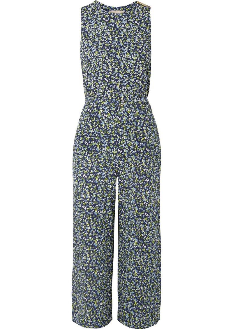 b5fa54ad565 MICHAEL Michael Kors Belted Floral-print Crepe Jumpsuit