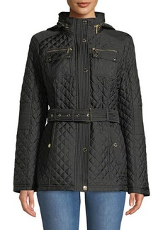 MICHAEL Michael Kors Belted Quilted Short-Coat