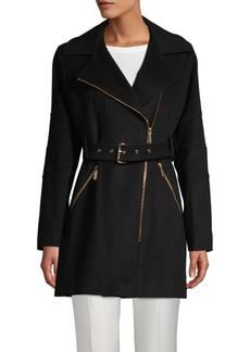 MICHAEL Michael Kors Belted Wool-Blend Coat