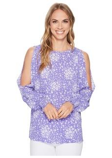 MICHAEL Michael Kors Bicolor Mod Floral Top