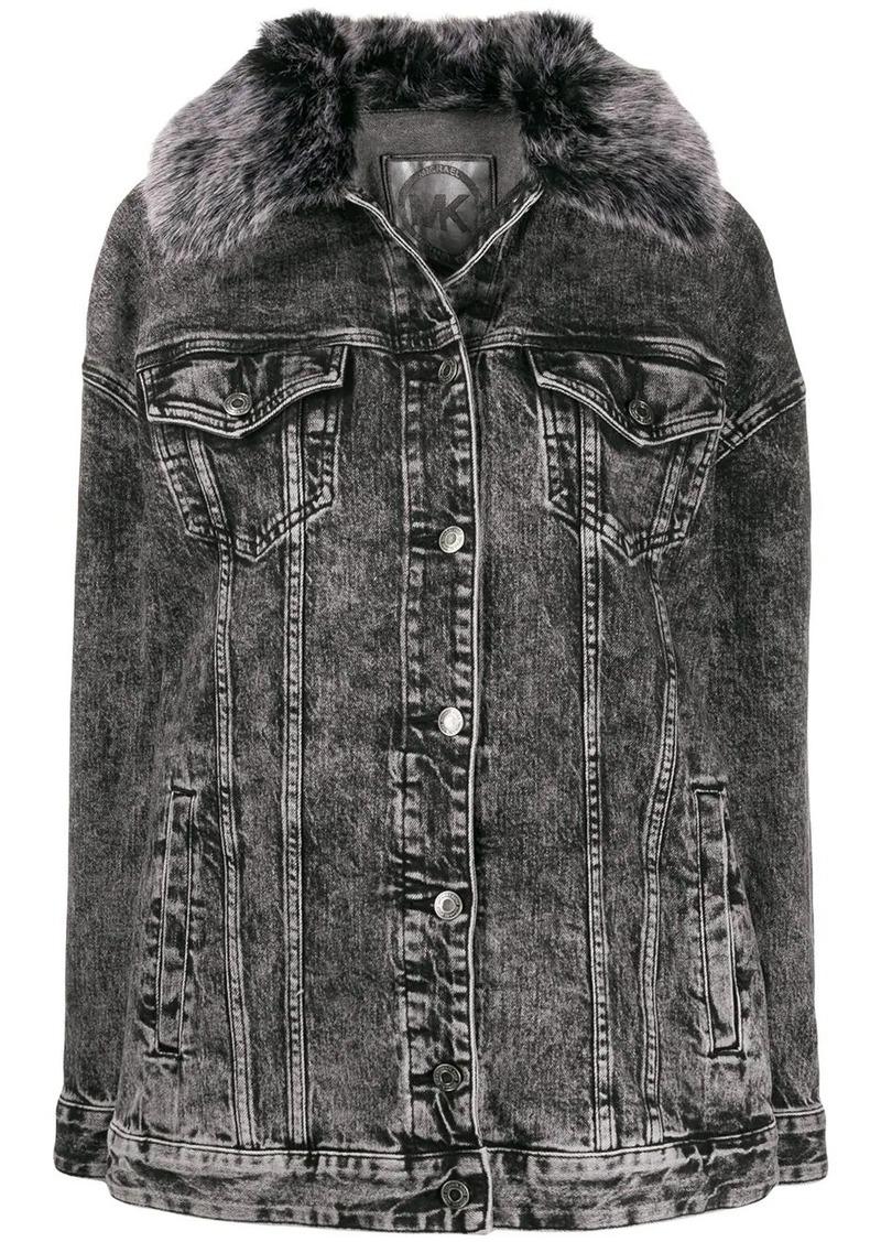 MICHAEL Michael Kors bleached denim jacket