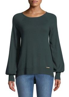 MICHAEL Michael Kors Boat-Neck Long-Sleeve Sweater