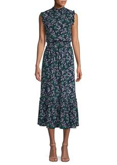 MICHAEL Michael Kors Boho Smock-Waist Jersey Dress