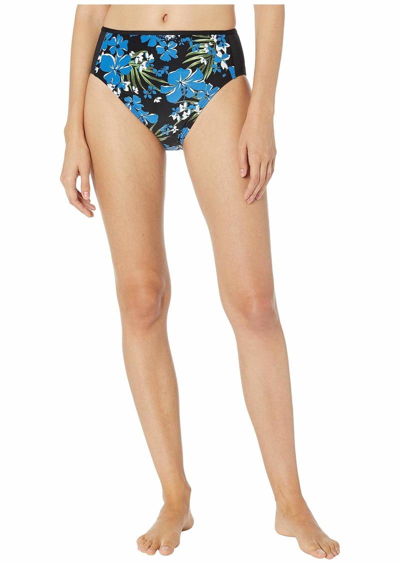MICHAEL Michael Kors Bold Tropical Bliss High-Waisted Bikini Bottoms
