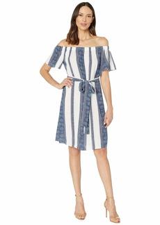 MICHAEL Michael Kors Border Off Shoulder Dress